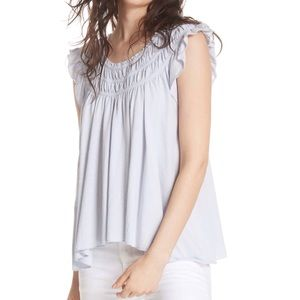 Free People We the Free Coconut Ruffled Top blouse